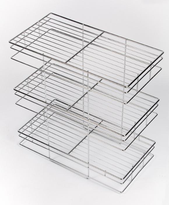 3 tier storage unit, motorhome, caravan, storage, wirework
