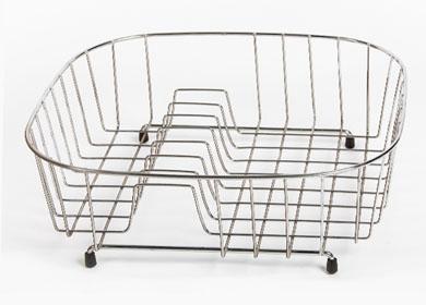 wirework wholesale sink basket with plate rack