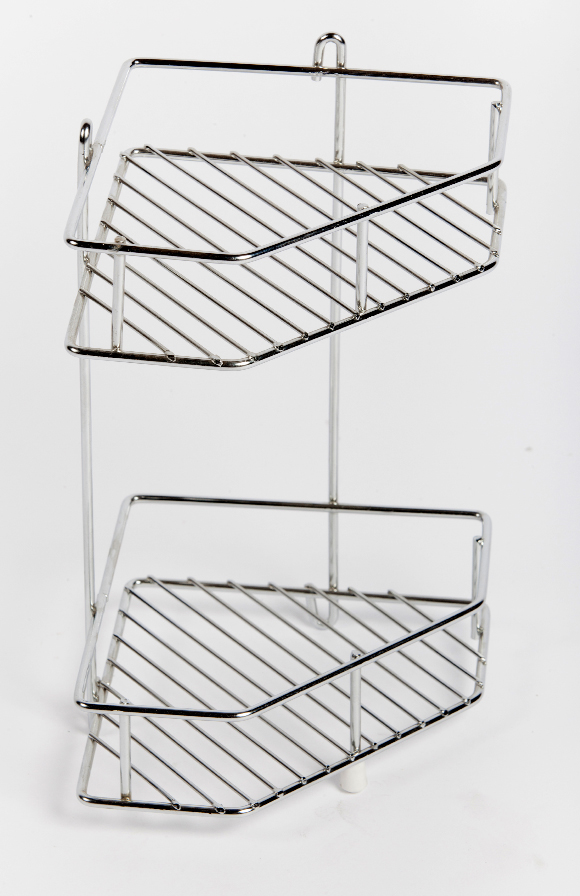 Corner Shower rack, caravan, motorhome, storage, wirework