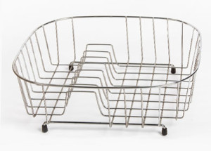 wirework wholesale sink basket with plate rack