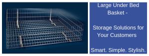 Large Under Bed Basket, wire welding, storage, motorhomes, caravans